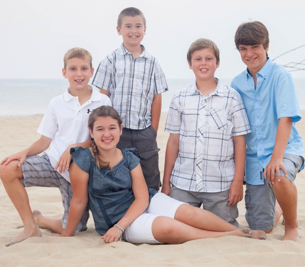 Kids at Outerbanks