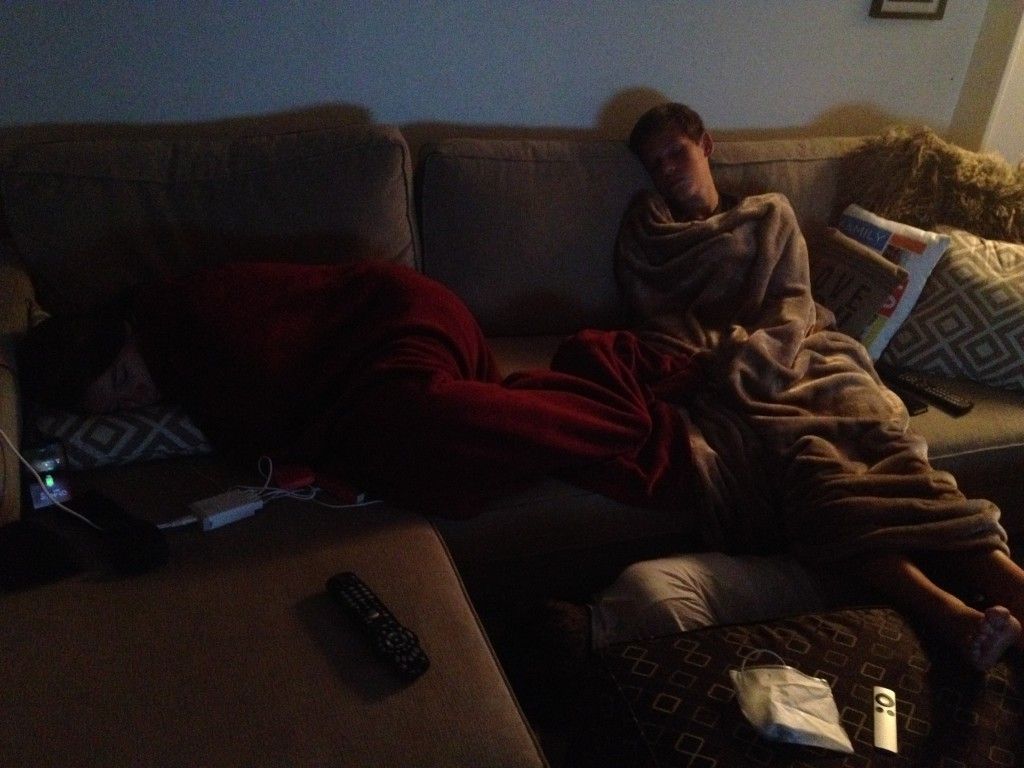 """The """"all nighter"""" my kids pulled -- I had to wake them up at 1:30am from """"resting"""""""
